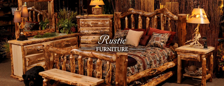 Rustic bedroom setup